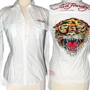 Ed Hardy by Christian Audigier Womens Tiger Shirt